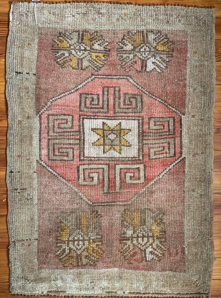 "Rug B12068 Vintage Turkish Rug (2' x 2' 9"")"