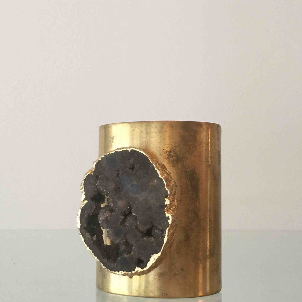 Brass and Druzy Cuff by Joey B