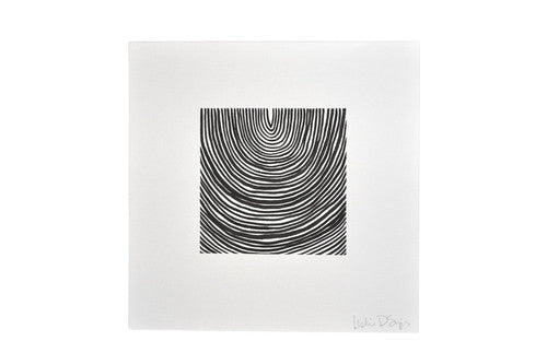 "Geometric Drawing by Leslie Snipes (8"" x 8"")"