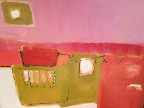 "Chris Shockley ""Red Purse"" 36""x36"" on Canvas"
