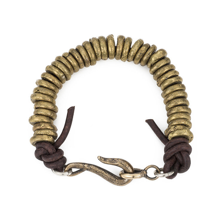 Shannon Koszyk Axium Bracelet with Handmade Brass African Beads