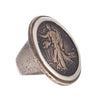 Shannon Koszyk Sterling and Bronze Lady Liberty Ring sz 7