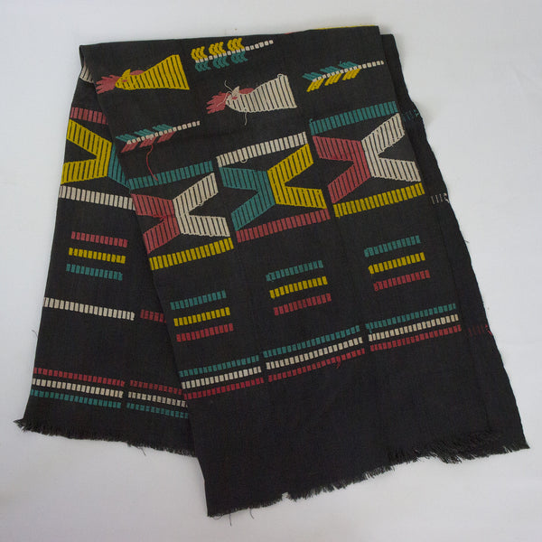 Vintage African Black Throw