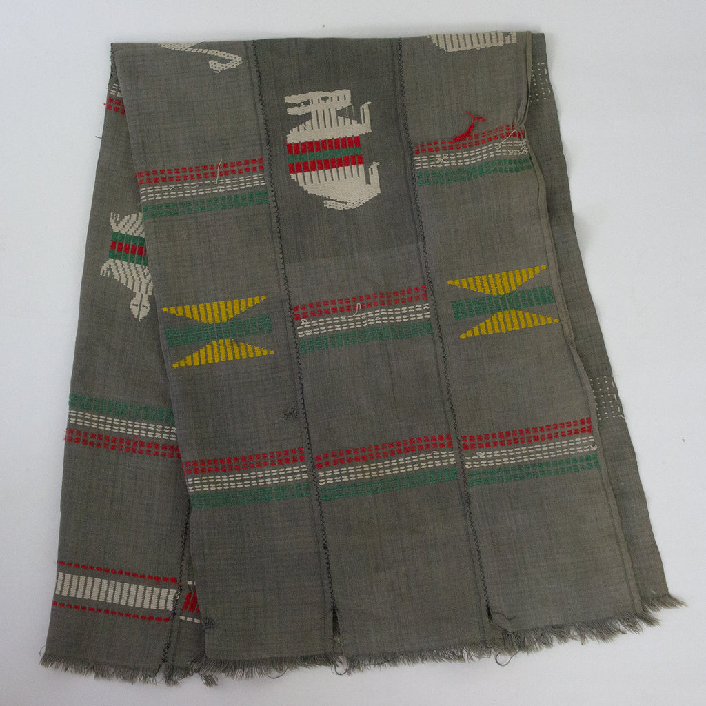 Vintage Mexican Grey Throw