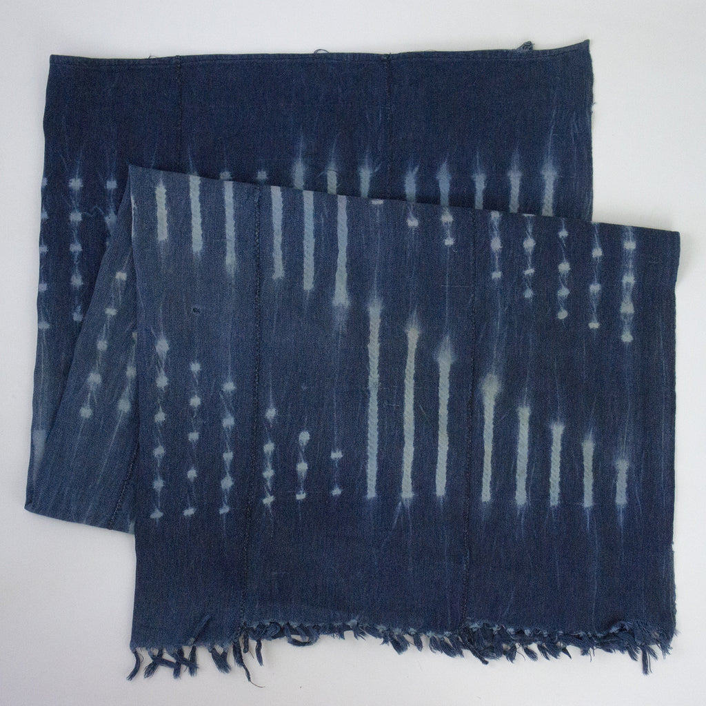 Vintage African Indigo Patterned Throw