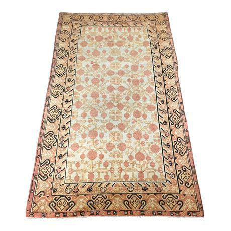 "B-400 Vintage East Turkestan Pomegranate Rug 5'-8"" x 9'-5"""