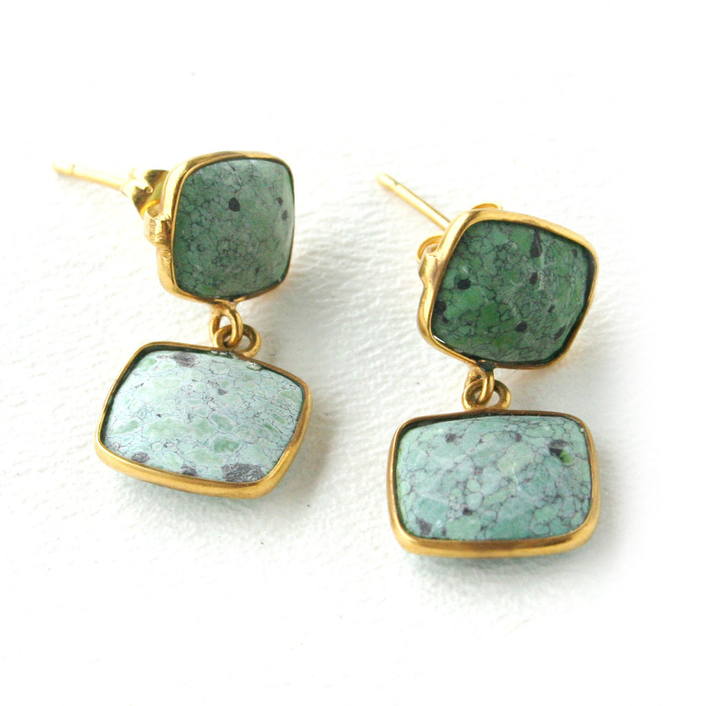 Addison Weeks Whitten Posts- Green Turquoise
