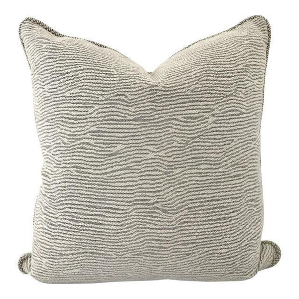 "Black and Cream Woven Design Pillow 22""x22"""