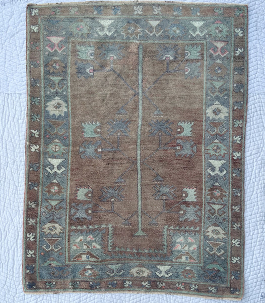 "Vintage Turkish Rug BM- 145 (4'-5'2"")"