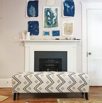 Custom Bench by BMA Designs with Peter Dunham Fabric