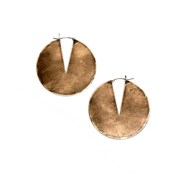 Laurel Hill Jewelry: Gate Hoops in Brass