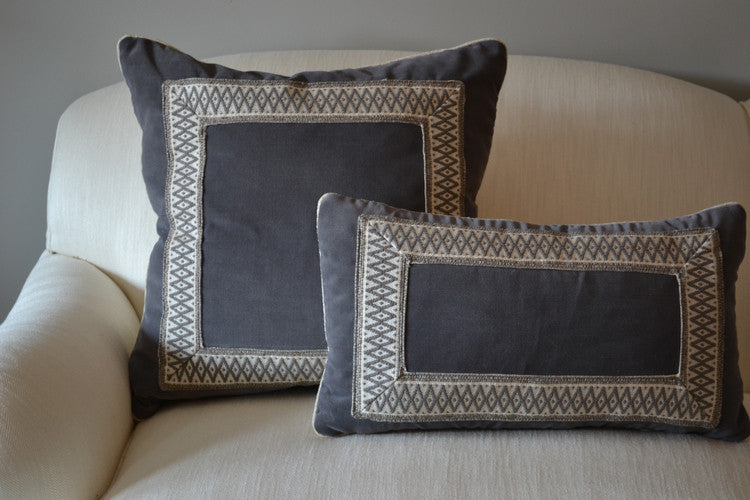listing grey gray velvet pillows il pillow covers