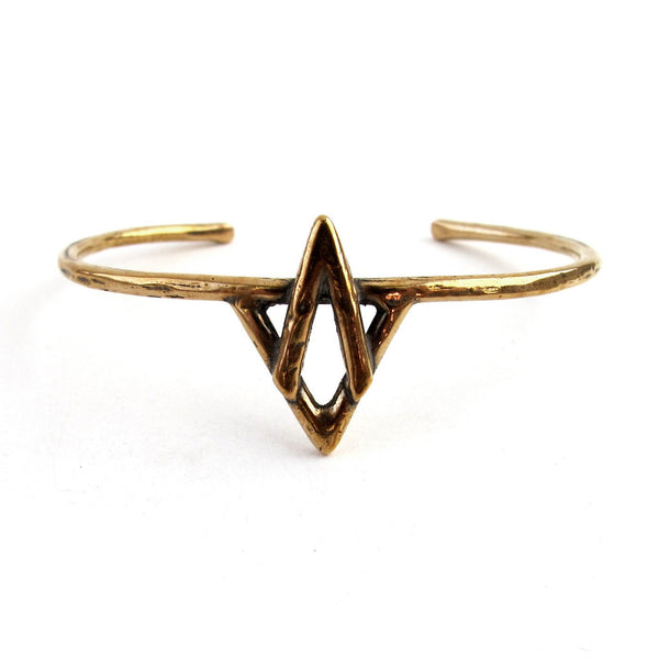 Laurel Hill Jewelry: Holy Mountain Cuff in Bronze