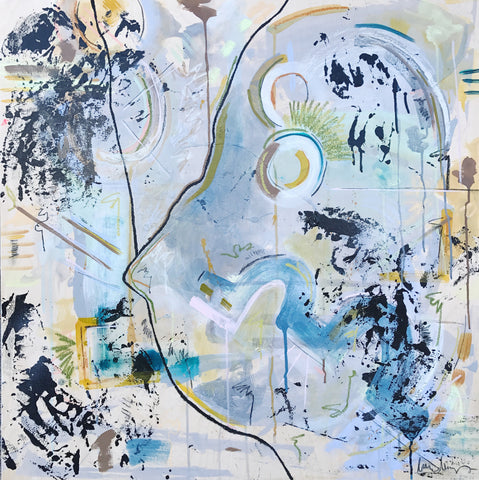 "Laura Deems 36 x 36 ""Makin the Moves"""
