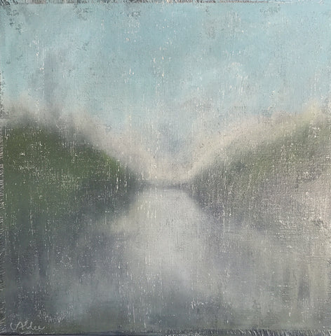 "Cecel Allee 48""x48"" Landscape on Wood Panel"