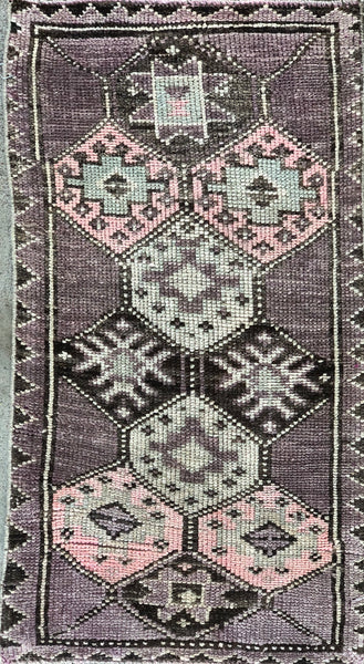 "Rug B14331 Vintage Turkish Rug (19"" x 36"")"