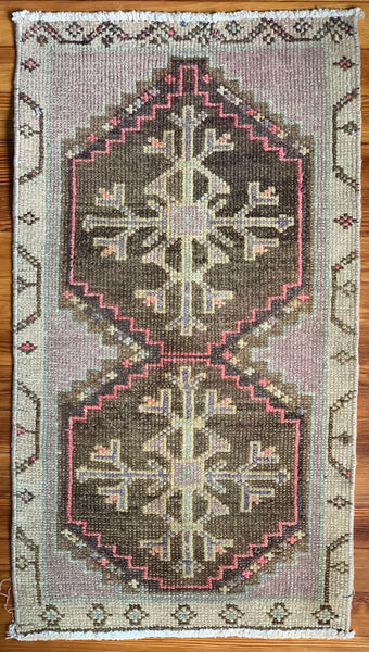 "Rug B14414 Vintage Turkish Rug (1' 7""x 2' 11"")"