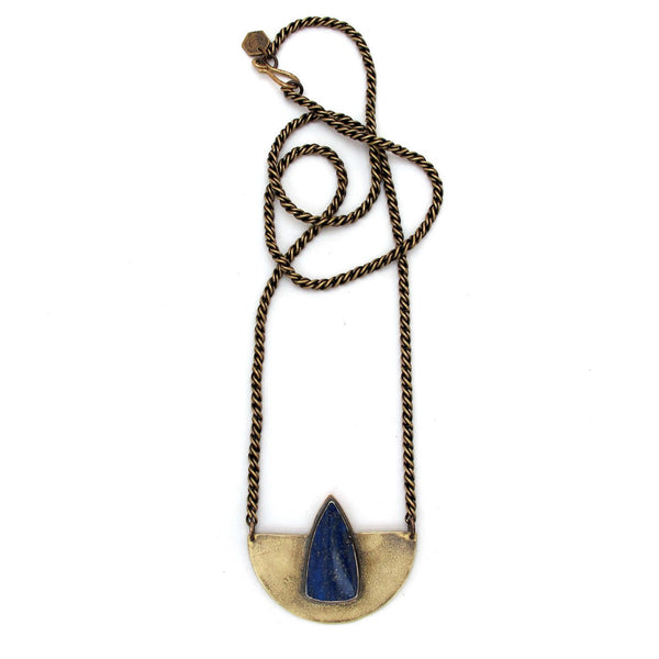 Laurel Hill Jewelry: Compass Necklace with Lapis