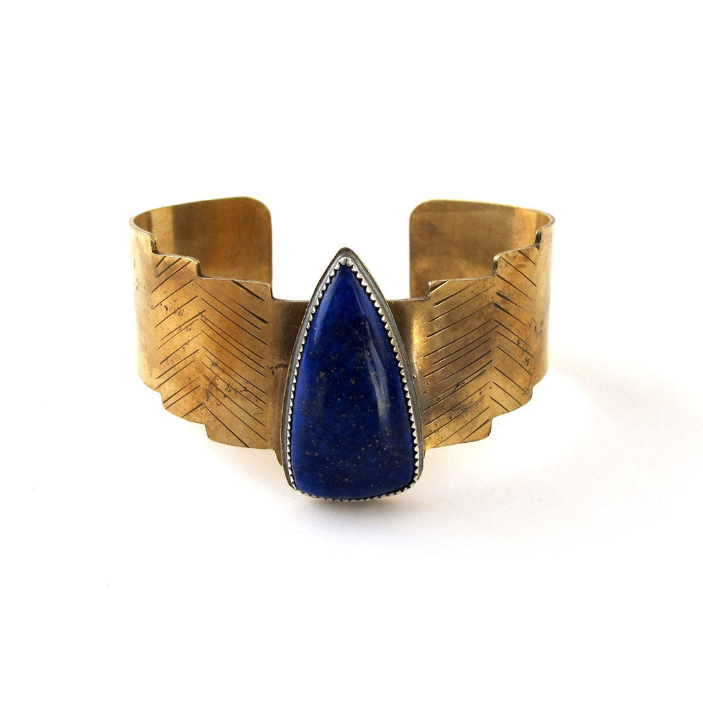 Laurel Hill Jewelry: Shield Cuff with Lapis
