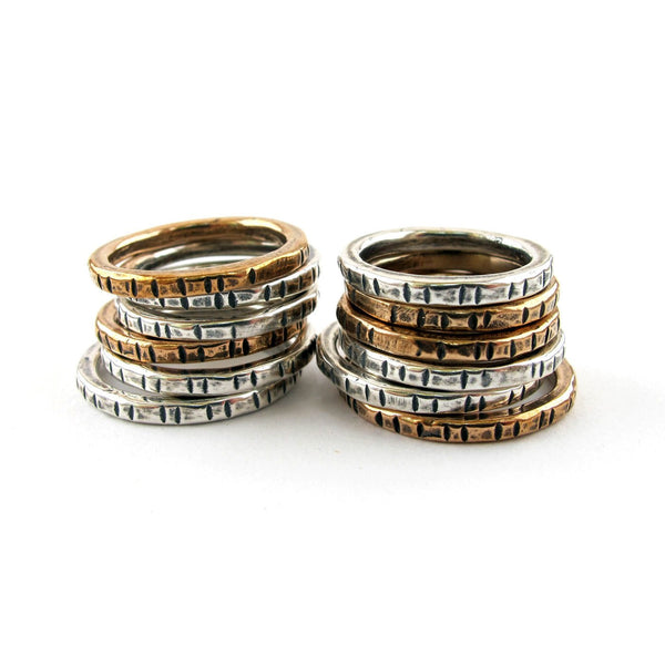 Laurel Hill Jewelry: Notched Stacking Rings