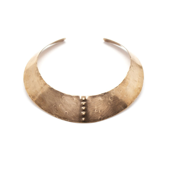 Laurel Hill Jewelry: Petroglyph iii Collar in Brass