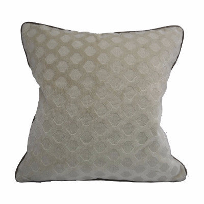 "Tone-on-Tone Hexagonal Velvet Pillow with Contrast Velvet Welt (22"" x 22"")"