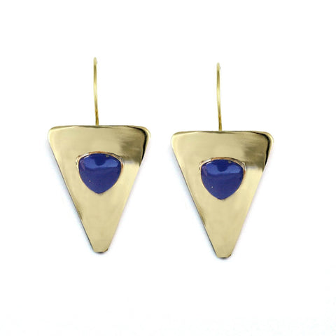 Addison Weeks Vaughan Triangle Earring Lapis
