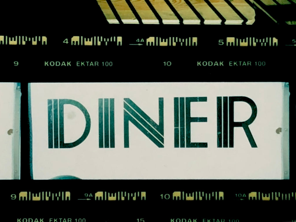 New York Diner sign on Kodak Ektar Film