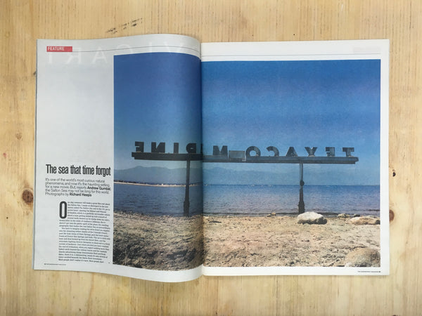 Richard Heeps photograph of the Salton Sea featured in the Independent newspaper.