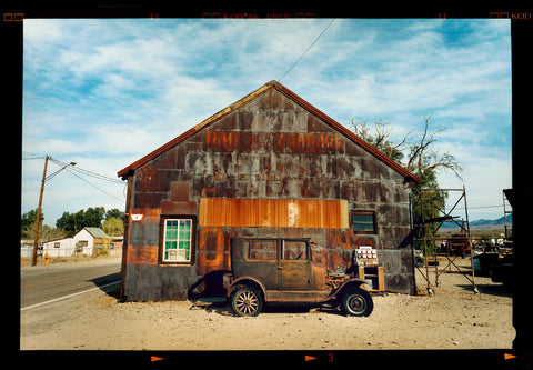 Model T and Garage from Richard Heeps series On the Road.