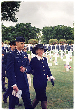The First Lady (Hilary Clinton), Cambridge American Cemetery, 1994