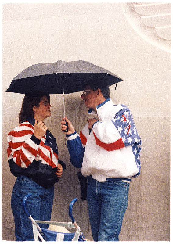 Stars & Stripes Couple, Cambridge American Cemetery, 1994