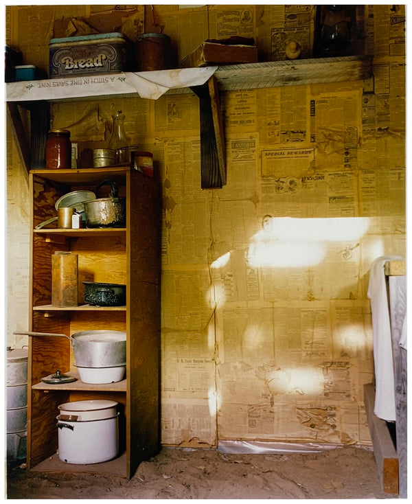 'A Stitch in Time Saves Nine' was photographed at the film set of 'The Outlaw Josey Wales', a Western DeLux film set during and after the American Civil War, filmed at Kanab. Interior photography by Richard Heeps as part of his Dream in Colour series.