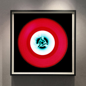 Vinyl Collection 'A' (Cherry Red), 2014. Acclaimed contemporary photographers, Richard Heeps and Natasha Heidler have collaborated to make this beautifully mesmerising collection. A celebration of the vinyl record and analogue technology, which reflects the artists practice within photography.