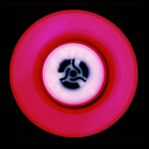 Vinyl Collection 'A' (Hot Pink), 2014. Acclaimed contemporary photographers, Richard Heeps and Natasha Heidler have collaborated to make this beautifully mesmerising collection. A celebration of the vinyl record and analogue technology, which reflects the artists practice within photography.