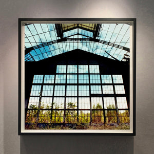 Big Window, Lambrate, photographed by Richard Heeps as part of his series 'A Short History of Milan'. There is a reoccurring linear, structural theme throughout the series, capturing the Milanese use of materials in design such as glass, metal, wood and stone.