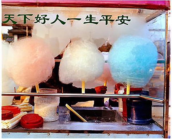 Candy Floss was taken by Richard Heeps when travelling in china. The pops of colour and the layers of detail draw you in. The Chinese Writing does not say Candy Floss/Cotton Candy for sale as you might expect, it says something beautiful along the lines of 'Be a Good Person and Live in Peace'.