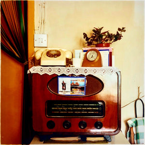 A vintage radio in a vintage home in Cambridge.