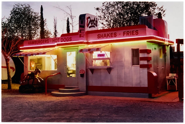 'Dot's Diner', part of Richard Heeps' 'Dream in Colour' series, features a classic American Diner in Bisbee, Arizona. The gorgeous colours created by the glowing neon lights at twilight, make for a cool vibe reminiscent of the movie musical Grease.