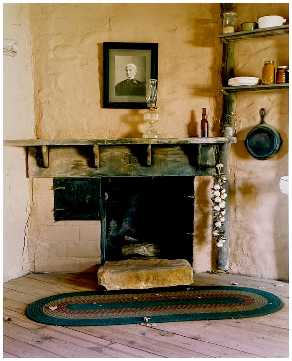 Fireplace & Portrait, Kanab, Utah, 2001