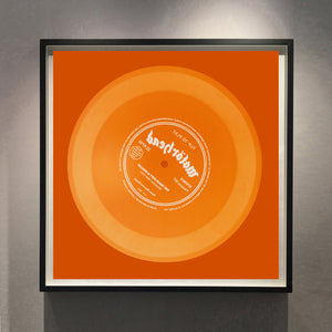 Vinyl Collection 'Flip to Play' (Orange), 2017. Acclaimed contemporary photographers, Richard Heeps and Natasha Heidler have collaborated to make this beautifully mesmerising collection. A celebration of the vinyl record and analogue technology, which reflects the artists practice within photography.