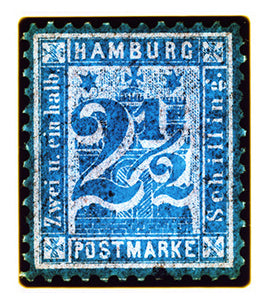 Hamburg Two & a Half Shilling (Blue), 2016
