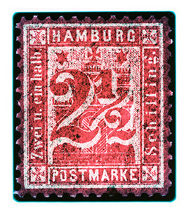 Hamburg Two & a Half Shilling (Crayon Red), 2016