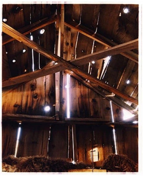 The light breaks through the cracks in a wooden barn interior on the movie set of Clint Eastwood's film 'The Outlaw Josey Wales'. Captured in Kanab, Utah, which was the setting of many cowboy movies.