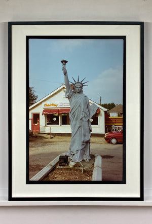 July IV, a statue of Liberty in a rural town on the Suffolk/Norfolk border. I