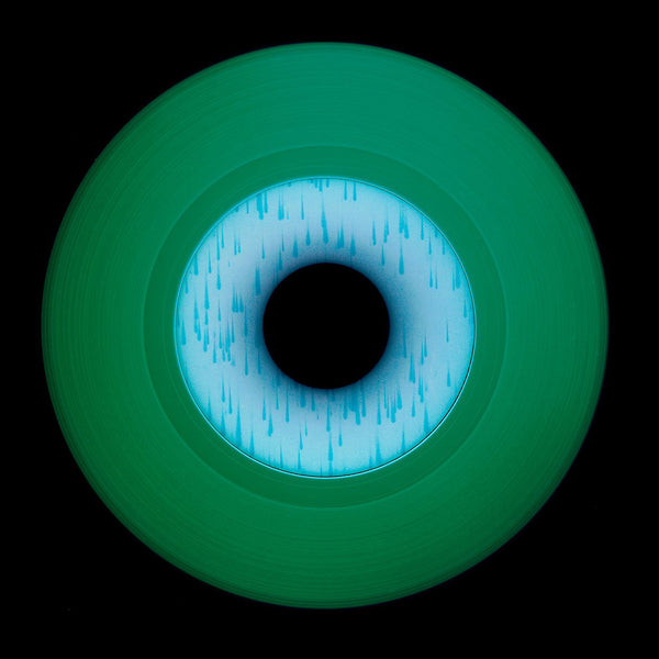 Vinyl Collection 'Other Side' (Green), 2020. Acclaimed contemporary photographers, Richard Heeps and Natasha Heidler have collaborated to make this beautifully mesmerising collection. A celebration of the vinyl record and analogue technology, which reflects the artists practice within photography.
