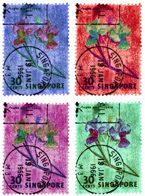 30 Cents Singapore Orchid (Multi-Colour Mosaic) II