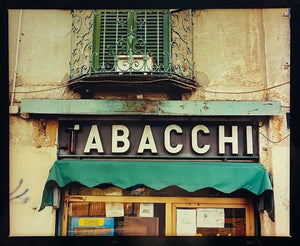 The traditional Italian Tobacconist, featuring the typography of a vintage sign. From Richard Heeps' series 'A Short History of Milan'.
