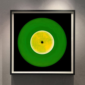 Vinyl Collection 'This Side' (Forest Green). Acclaimed contemporary photographers, Richard Heeps and Natasha Heidler have collaborated to make this beautifully mesmerising collection. A celebration of the vinyl record and analogue technology, which reflects the artists practice within photography.
