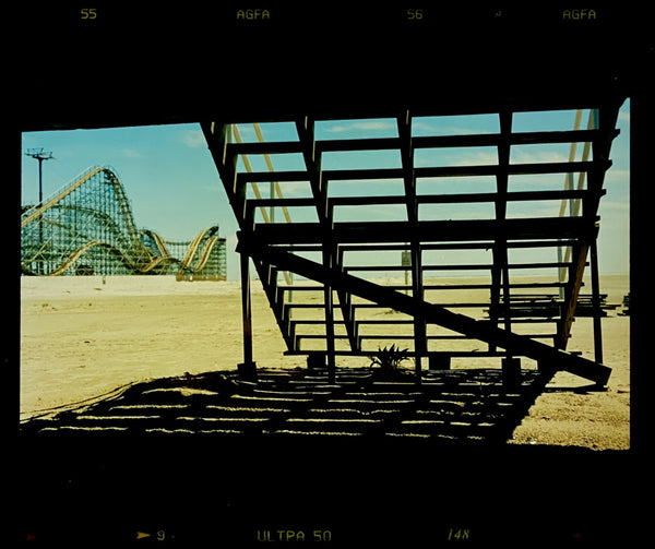 Under the boardwalk, down by the sea - a favourite song that this photo by Richard Heeps really captures. Taken in Wildwood, New Jersey on the East coast of America, the details of the structure, shadows and the rollercoaster in the distance all contribute to the engaging depth of this piece.